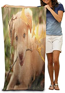 NDJHEH Serviettes Plage Draps de Bain Great Golden Retriever Dog Pit Pup Pool Towel,Swim Towels for Bathroom,Gym,and Pool 31 in X51 in