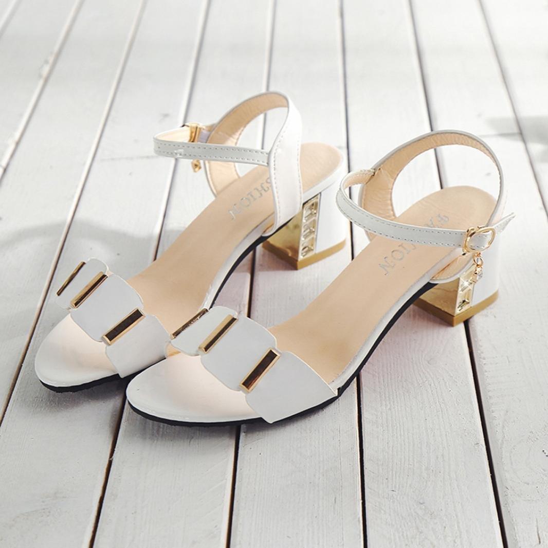 215f270c4ea523 Familizo Sandales Mi-Talon à Bout Ouvert,Sandales Femme Chaussures pour  Femmes (EU:35/CN:36, Noir): Amazon.fr: Jeux et Jouets