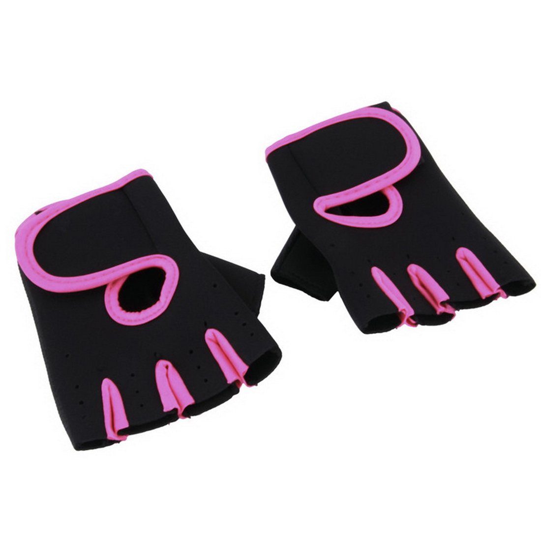1Pair Sports Gloves Fitness Exercise Training Gym Gloves-Rose Red M Luwu-Store