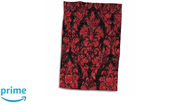 Black and White Damask TWL/_38757/_1 Towel 15 x 22 3D Rose Letter H