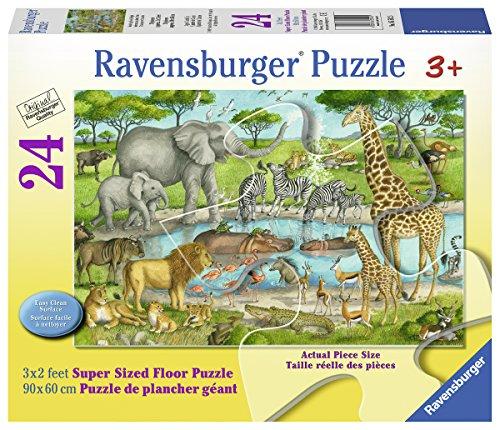 Ravensburger Watering Hole Delight Floor Puzzles (24 Piece) - Work 24 Piece Floor Puzzle
