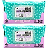 Dr. Wellness - 2 Pack (60 Count Each) Micellar Water Facial Cleansing Wipes