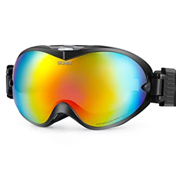 a155b0a2d8e4 Gonex Ski Snow Goggles Anti-fog UV Protection with Frameless Double  Spherical Lens for Skiing