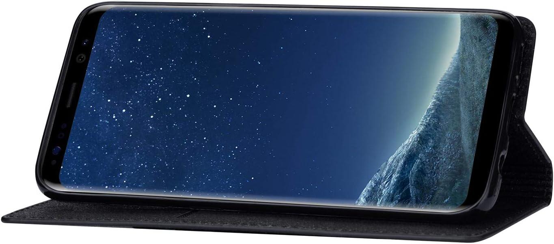 Hancda H/ülle f/ür Samsung Galaxy S8 Handyh/ülle Flip Case Glitzer Bling H/ülle Leder Tasche Schutzh/ülle Handytasche mit ein Kartenfach Klapph/ülle f/ür Samsung Galaxy S8,Schwarz