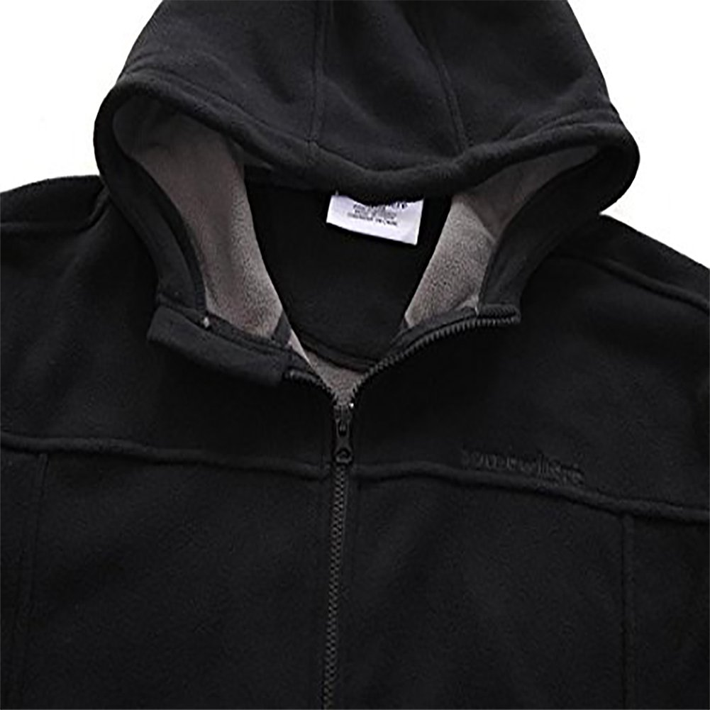Somewhere Mountain Full Zip Fleece Jacket, Men's Full Front Zip Fleece Casual Lightweight Jacket, Best Birthday Gifts-Black,Small by Somewhere (Image #5)