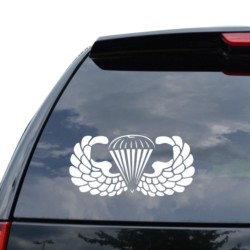 Amazon com airborne paratrooper us army decal sticker car truck motorcycle window ipad laptop wall decor size 05 inch 13 cm wide color matte