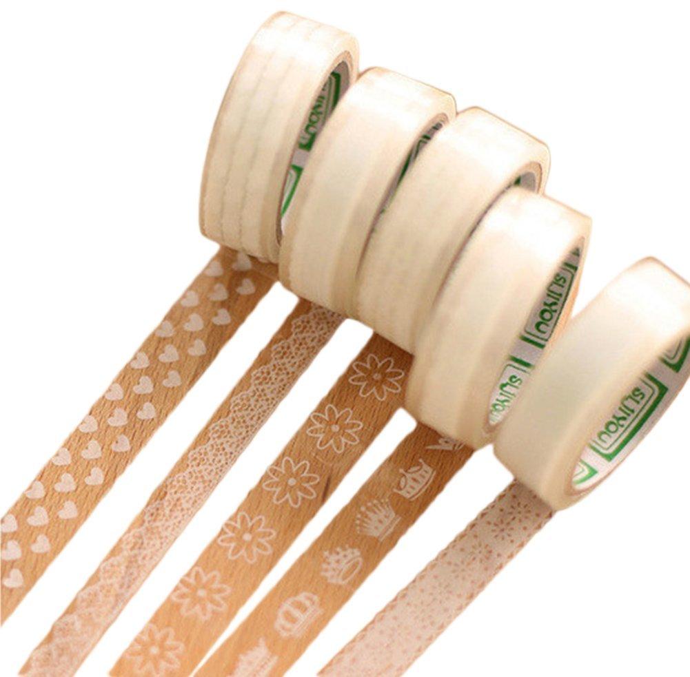 Lumanuby 10M Lot de 10 rouleaux de ruban adhésifs à motifs Idéal pour scrapbooking/ activités manuelles