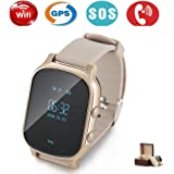 Niños Smartwatch GPS tracker con Phone, Smart Watch Niño Reloj de pulsera Tracking en…