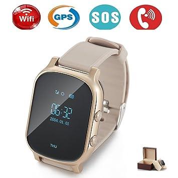 Niños inteligentes GPS Tracker con Phone, Smart Watch niño reloj de pulsera Tracking de tiempo real Localizador llaves SIM GSM, antipérdida pulsera, ...