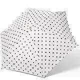 Littlechange 超軽量 日傘 折りたたみ 晴雨兼用 UVカット多層構造 UPF50+ 紫外線対策 耐風撥水 ホワイト