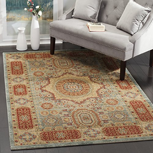 Mahal Red Rug (Safavieh Mahal Collection MAH622C Traditional Oriental Navy and Red Area Rug (4' x 5' 7