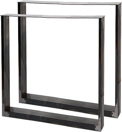 Bastidores para mesa 70x72 cm Acero lacado claro Caballetes para ...