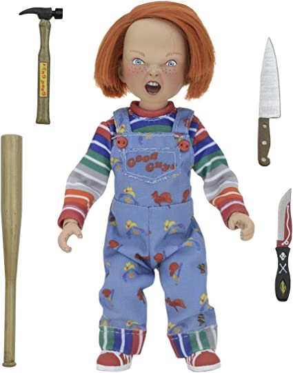 """CHILD/'S PLAY CHUCKY 5.5/"""" inch 8/"""" scale inch CLOTHED ACTION FIGURE NECA"""