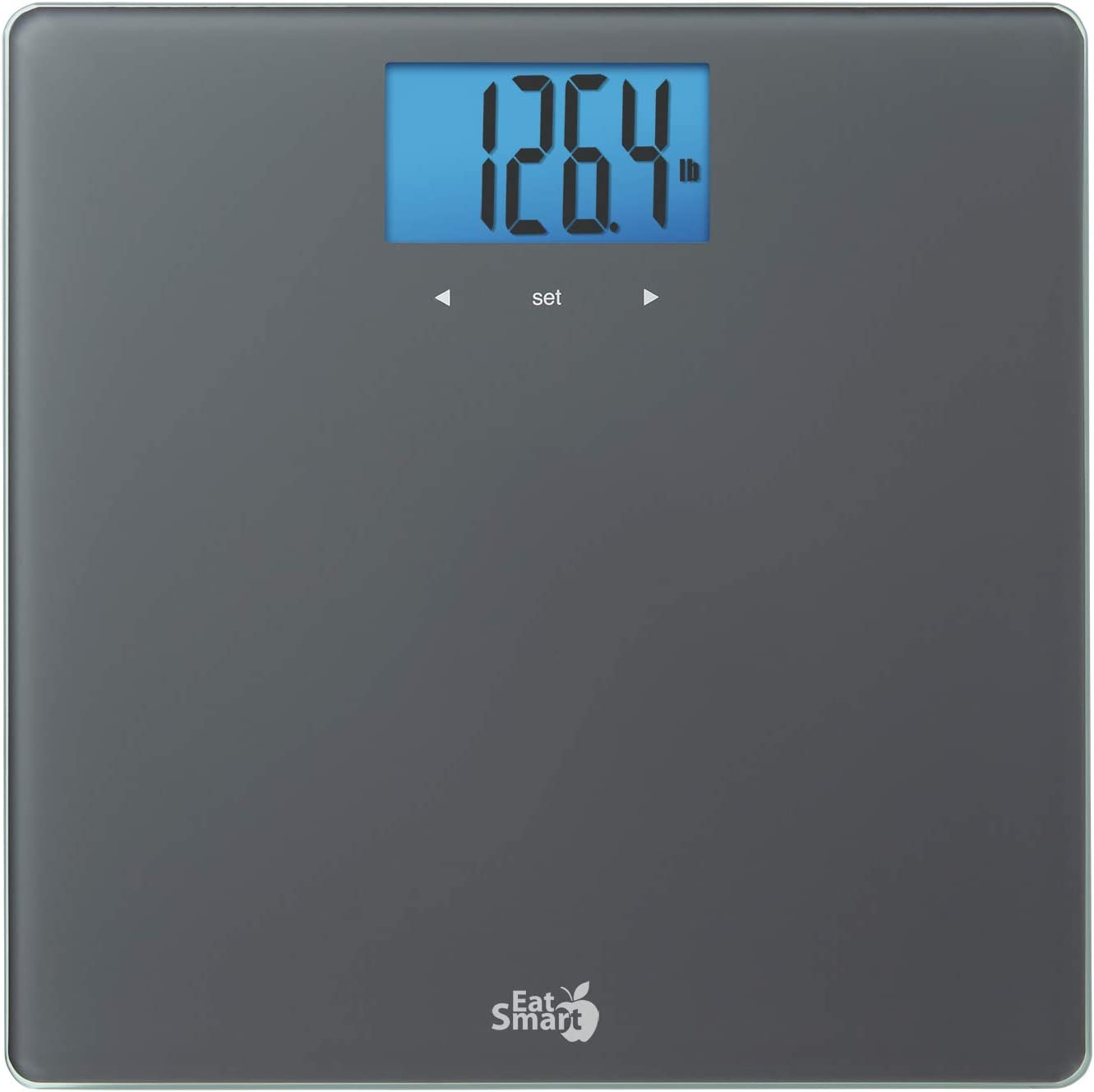 EatSmart Gray Glass BMI/Weight Tracker Blue Backlight