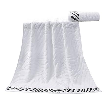 bestomz toallas de fibra de bambú toalla toalla de baño (blanco)