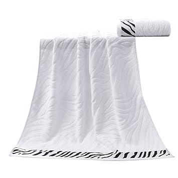 Yardwe - Toalla de baño (Fibra de bambú, Suave y cómoda), diseño de Tigre, Color Blanco: Amazon.es: Hogar