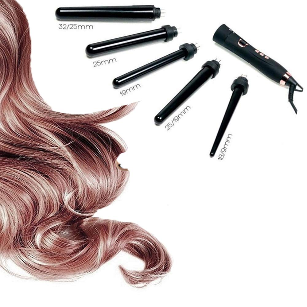 Five-in-One Multi-Function Hair Curler Set Reversible Tube Perm Artifact Multi-Function Hair Curler Straight Hair Curler Big Wave Artifact Styling Tool by ZQhealth (Image #1)