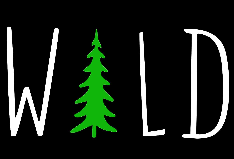 Black, 5 Wild Hiking Camping Adventure Vinyl Car Window Decal Sticker