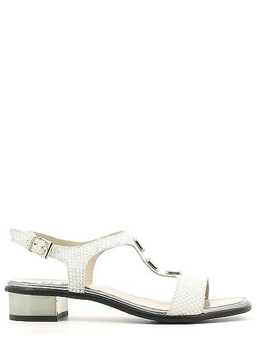 Keys 5405 Sandales à talons hauts Femmes Blanc Blanc - Chaussures Sandale Femme