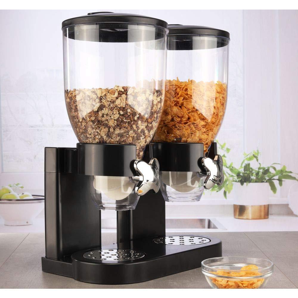 Müslispender Müsli Cornflakes Spender Cerealienspender mit zwei Behältern 2x3,5L