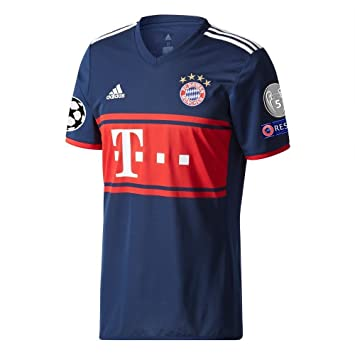 Amazon.com : adidas Bayern Munich Away Jersey 2017/2018 + Starball, Respect & Trophy Patch - S : Sports & Outdoors