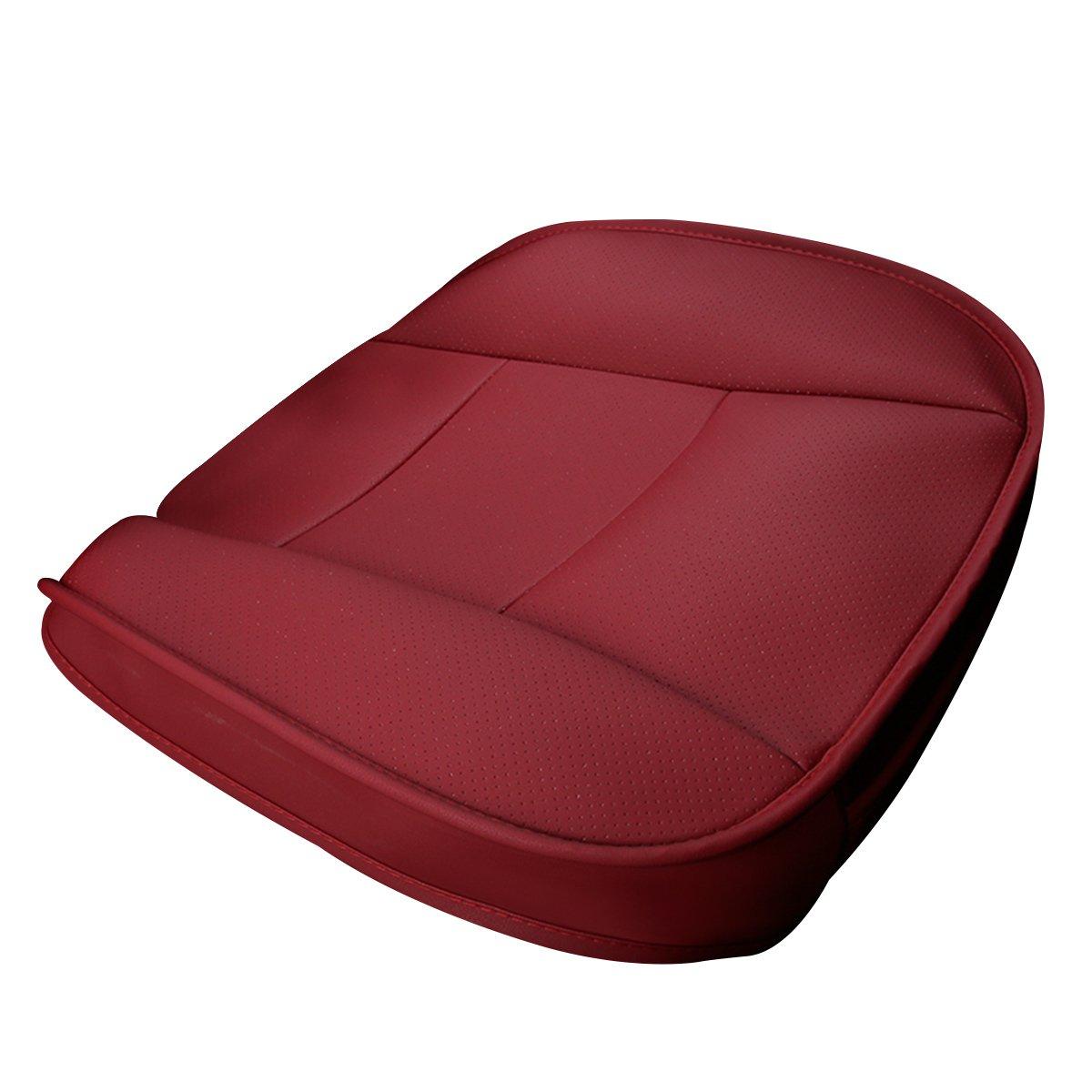Negro cuero de la PU transpirable C/ómodo antideslizante Health Car Seat Coj/ín para Four Seasons Universal SENSUES Car Seat Cover