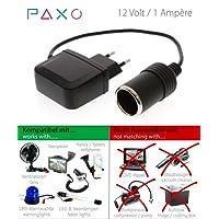 PAXO KFZ Netzadapter, KFZ Netzteil 230V auf 12V / 10A Spannungswandler Gleichrichter mit Zigarettenanzünder-Buchse für Staubsauger, Kompressoren, Kühlboxen u.v.m.