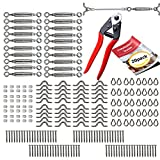 Cable Railing Kit - 20 Pack + CABLE CUTTER - Heavy
