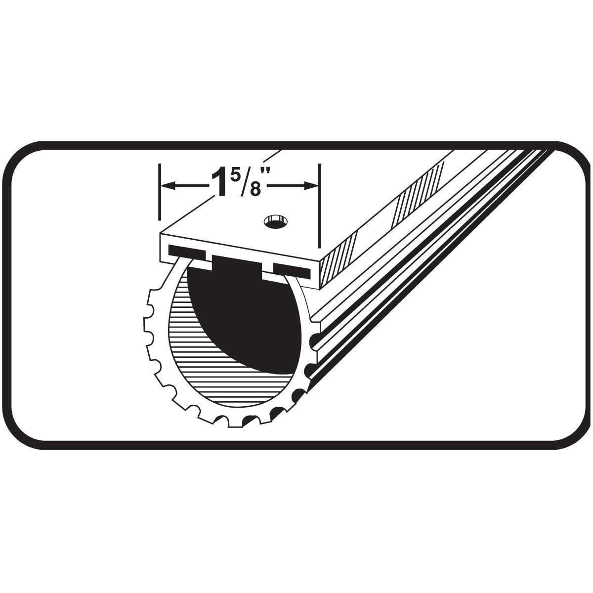 Black M-D Building Products 87643 9-Feet Universal Aluminum and Rubber Garage Door Bottom
