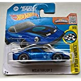 Hot Wheels 2016 Hw Speed Graphics Need For Speed Blue Nissan Fairlady Z 184/250, Long Card by Mattel