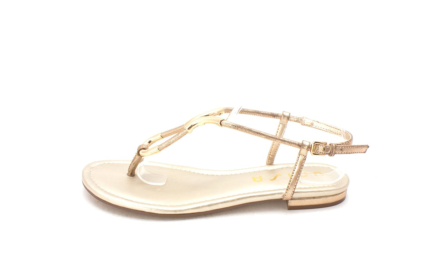 Unisa Womens DELSON Open Toe Casual Ankle Strap Sandals Gold Size 80