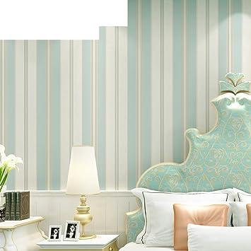 Vliestapete/Amerikanische Schlafzimmer Wohnzimmer Tapete/ TV Wand Streifen  Tapete B