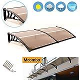 "Exacme Mcombo 40""X80"" Window Awning Outdoor Polycarbonate Front Door Patio Cover Garden Canopy 6055-4080 Brown"