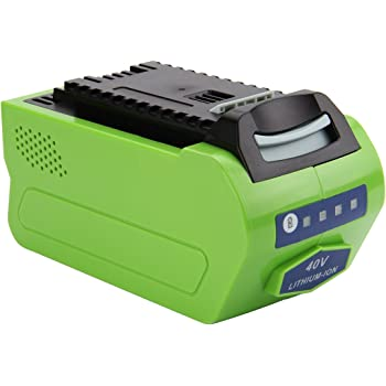 Exmate 40V 5.0Ah Li-ion Replacement Battery Compatible with Greenworks  G-MAX 29472 29462 (Not for Gen 1)
