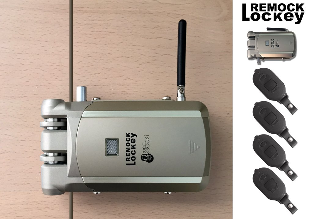 Invisible Door Lock (Padlock) Remock Lockey with 4 Remotes, in Golden - - Amazon.com