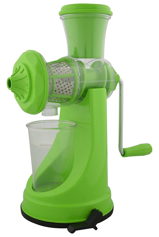 National Fruit Juicer, Manual Hand Mixi, Green Colour, Plastic, 1pc