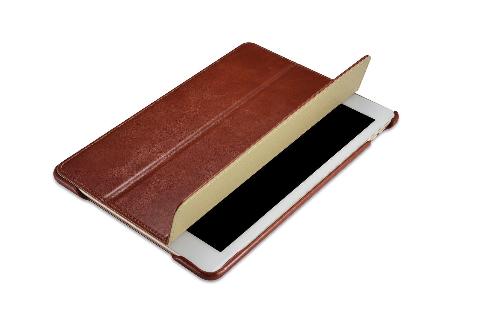 Burkley Premium Leather Smart Folio Case for Apple iPad Pro 10.5'' | Handmade Leather with waterproof interior | Brown
