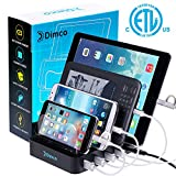 Fast Charging Station - Fast Charging Dock for Multiple Devices - Apple iPhone iPad Smart Charging Station - Android 4 Port Multiple Charger - Fire Tablet Micro USB Cell Phone Docking Station