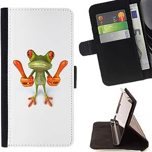 Jordan Colourful Shop - smart frog funny cartoon minimalist white For Samsung Galaxy Note 3 III - Leather Case Absorci???¡¯???€????€??????&: Amazon.es: Electrónica