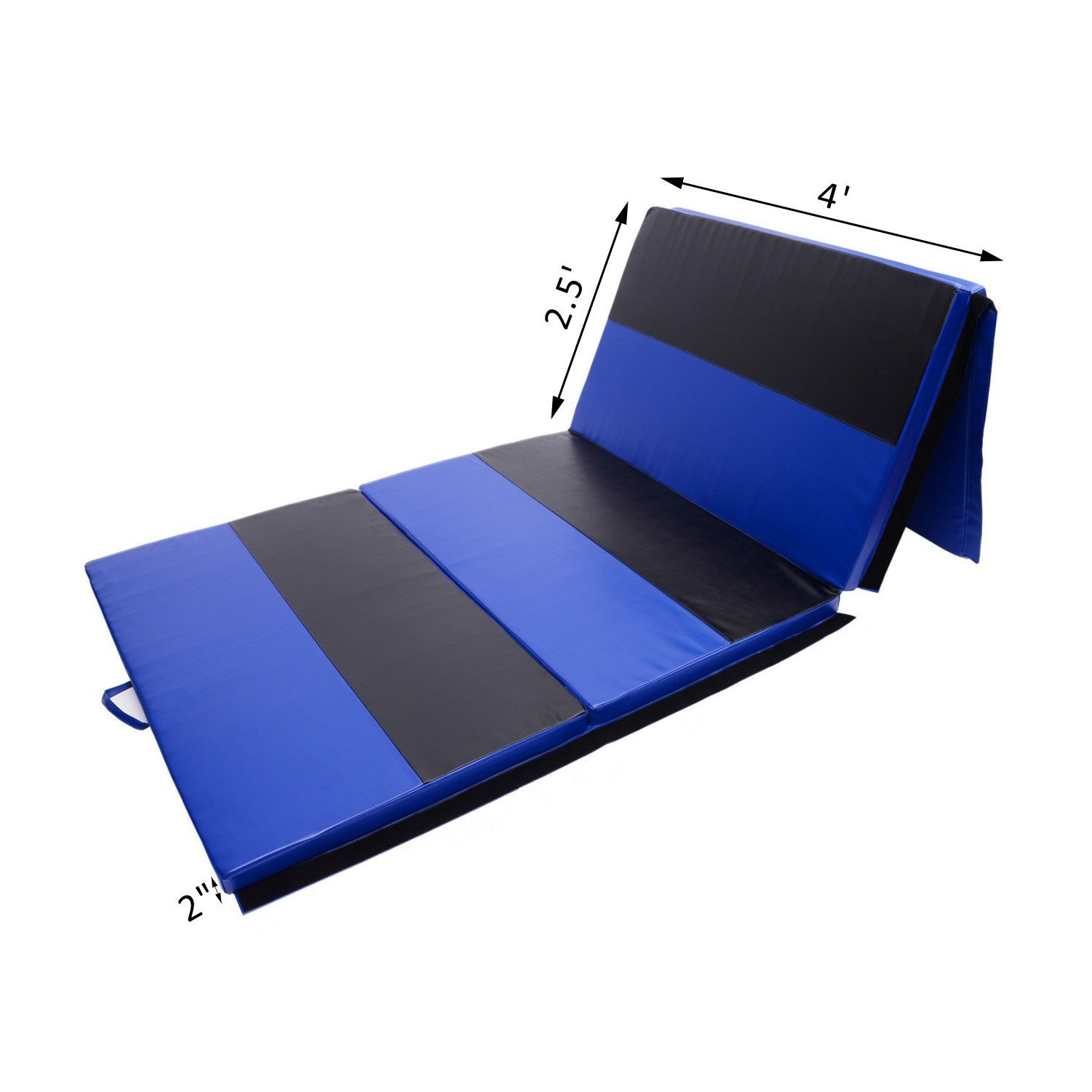 Folding Gymnastics Mat 4' x 10' x 2' Martial Arts Aerobics Exercise Yoga Tumbling Pad With Ebook by MRT SUPPLY