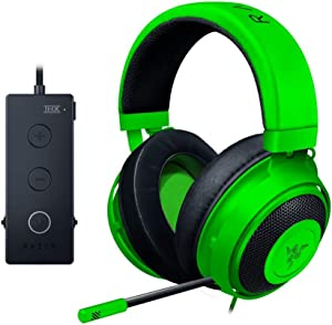 Razer Kraken Tournament Edition: THX Spatial Audio - Full Audio Control - Cooling Gel-Infused Ear Cushions - Gaming Headset Works with PC, PS4, Xbox One, Switch, Mobile Devices - Green (Renewed)