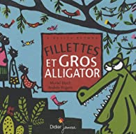 Fillettes et gros alligator par Bloch