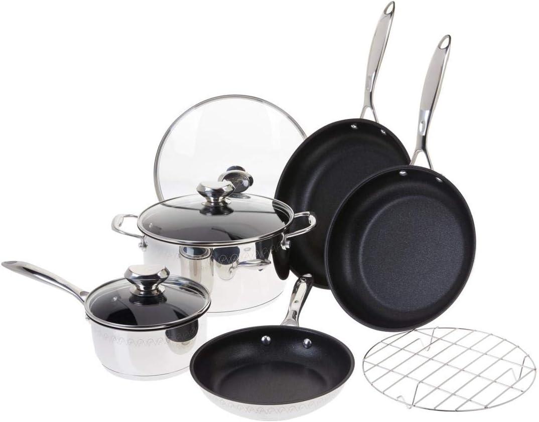 Wolfgang Puck Plasma Elite 9-piece Stainless Steel Cookware Set Model 673-940 (Renewed)