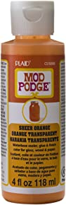 Mod Podge Waterbase Sealer, Glue and Finish Color in Assorted Colors (4-Ounce), CS15088 Sheer Orange