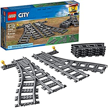 LEGO City Switch Tracks 60238 Building Kit, 8 Pieces (Pack of 1)