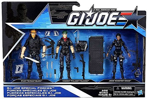 G.I. Joe, 50th Anniversary, Special Forces Action Figure Set (Outback, Falcon, and Shooter), 3.75 Inches -