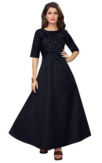 c0e668aa91e Shreeji Enterprise Launched Summer Long Woman Gown: Amazon.in ...