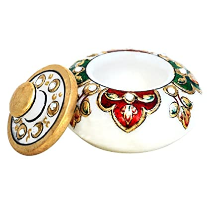 Amazon Com Handicrafts Paradise Meena Work Pill Box Home Kitchen