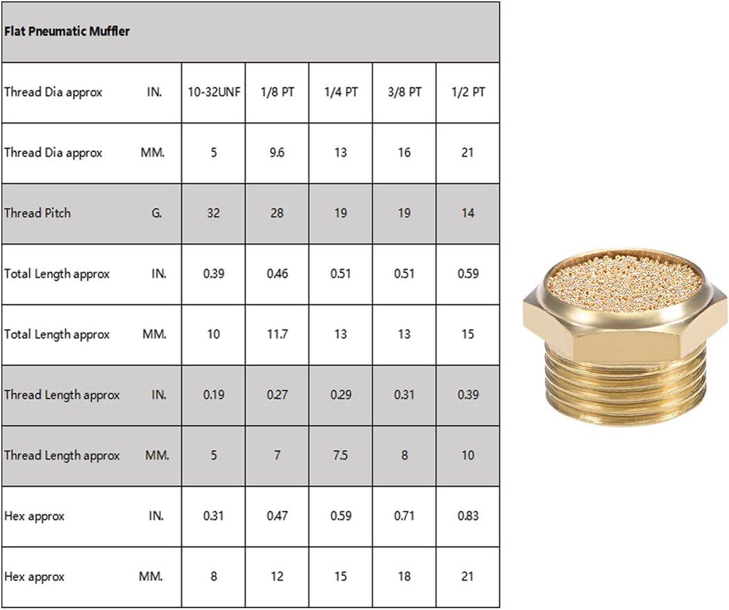 Sourcingmap 3 8 Pt Gesintert Bronze Auspuff Schalldämpfer Mit Messing Körper Flach 3 Auto