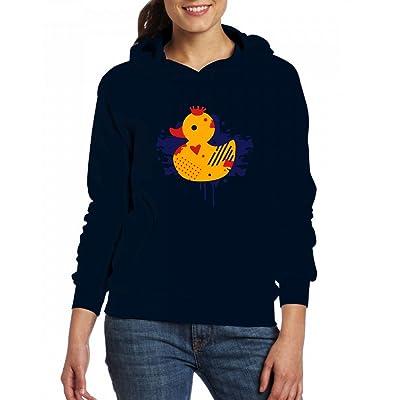 A duck with a crown as a graffiti Womens Hoodie Fleece Custom Sweartshirts